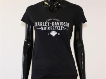 T-Shirt, Erase, Harley-Davidson, Schwarz