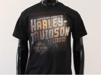 T-Shirt, Freedom, Harley-Davidson, Schwarz