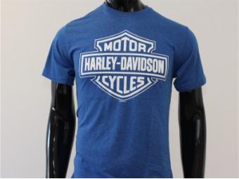 T-Shirt, Royal Hue, Harley-Davidson, Blau