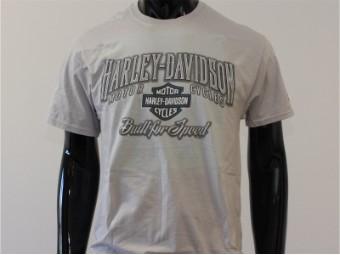 T-Shirt, Speed Bump, Harley-Davidson, Grau