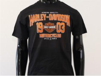 T-Shirt, Nowhere, Harley-Davidson, Schwarz