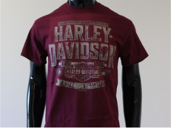 T-Shirt, Give you up, Harley-Davidson, Rot