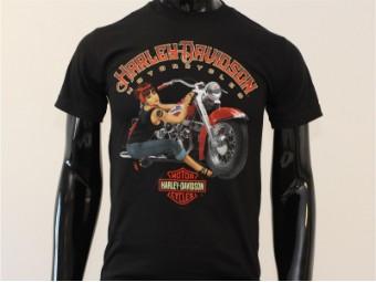 T-Shirt, Clean, Harley-Davidson, Schwarz