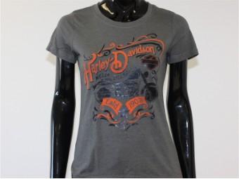 T-Shirt, Invisible, Harley-Davidson, Grau