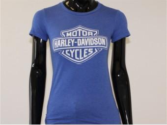 T-Shirt, Blue Reign, Harley-Davidson, Blau