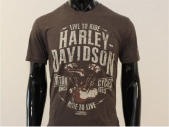 T-Shirt, Defiance, Harley-Davidson, Braun