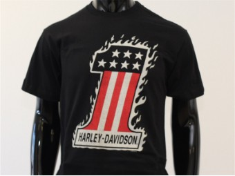 T-Shirt, One Flame, Harley-Davidson, Schwarz