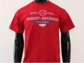 T-Shirt, Proper, Harley-Davidson, Rot
