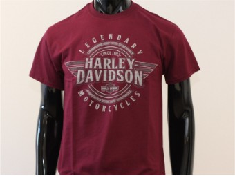 T-Shirt, Honor, Harley-Davidson, Rot