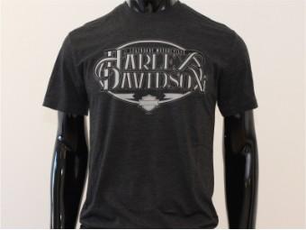 T-Shirt, Strengthen, Harley-Davidson, Grau