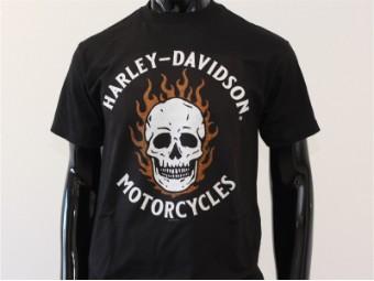 T-Shirt, Spooky, Harley-Davidson, Schwarz