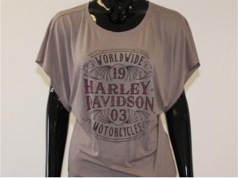 T-Shirt, Blushing, Harley-Davidson