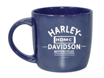 Becher, Blue City, Lustre, Harley-Davidson, Blau/Weiß