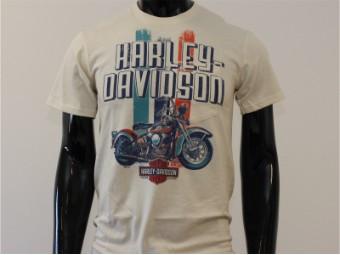 T-Shirt, Turtledove Vintage Era, Harley-Davidson, Beige