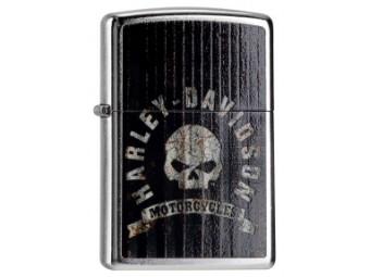 Zippo, Street Skull, Harley-Davidson, Schwarz