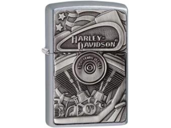 Zippo, Motor Flag Emblem, Harley-Davidson