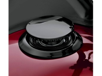 Bündiger Tankdeckel, FXFB & FXFBS Modelle ab '18, Harley-Davidson, Schwarz