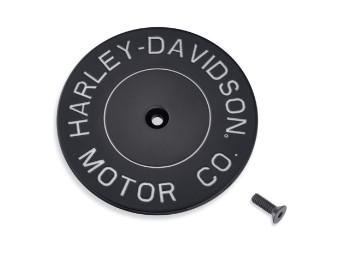 Luftfilter, Zierblende, H-D Motor Co., Harley-Davidson, Schwarz