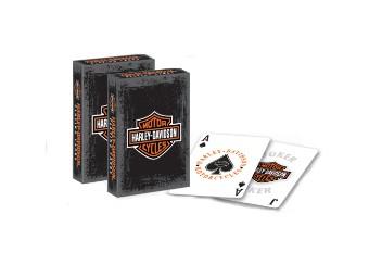 Kartenspiel, Rustic, Bar & Shield, Harley-Davidson