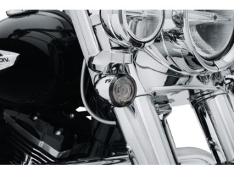 Getönte Gläser für Bullet LED-Blinkereinsatz-Kit, Harley-Davidson, Getönt
