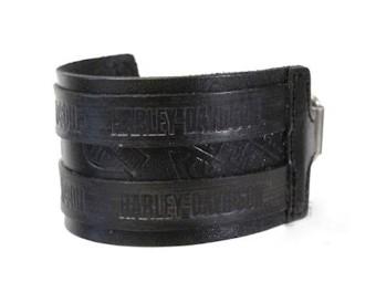 Armband, Bar & Shield, Leder, Harley-Davidson, Schwarz