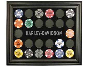 Poker Chip Collector's Frame, Harley Davidson