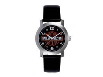 Armbanduhr, Chicago, Harley-Davidson, Schwarz/Weiß/Orange
