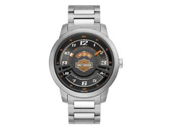 Armbanduhr, Bar & Shield, Multi-Layer, Edelstahl