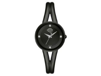 Armbanduhr, Bar & Shield, Harley-Davidson, Schwarz