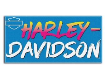 Strandtuch, 76 x 152 cm, Cool Ride Beach Harley-Davidson, Blau