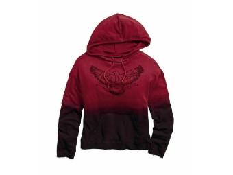 Sweatshirt, Red Dip-Dye, Harley-Davidson, Rot/Schwarz