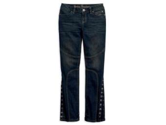 Jeans, Convertible Leg Mid-Rose, Harley-Davidson, Blau