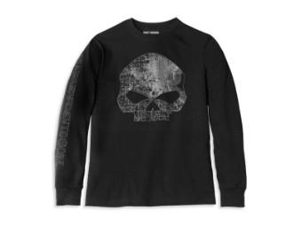 Longsleeve, Milwaukee Map Skull, Harley-Davidson, Schwarz