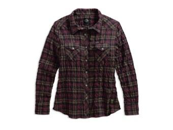 Hemd, Textured Plaid Shirt, Harley-Davidson, Braun kariert