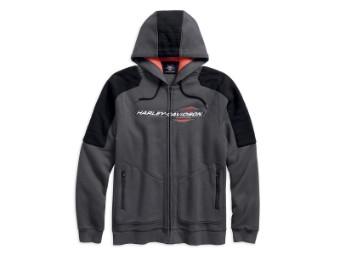 Pullover, Shoulder Accent, Harley-Davidson, Grau
