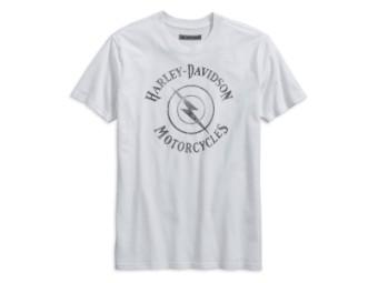 T-Shirt, Lightning Bolt, Harley-Davidson, Weiß