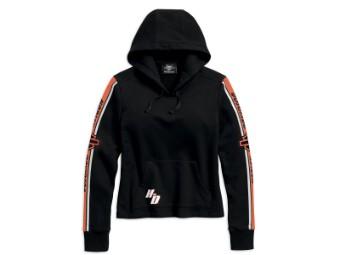 Pullover, Sleeve Stripe, Harley-Davidson, Schwarz/Weiß/Orange