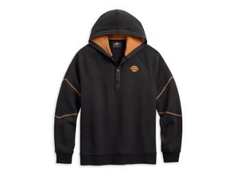 Hoodie, Dual Stripe, Harley-Davidson, Schwarz/Orange