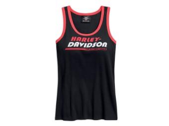 Tank-Top, Vertical Stripe, Harley-Davidson, Schwarz/Rot/Weiß