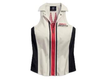 Top, Vertical Stripe, Harley-Davidson, Weiß/Schwarz/Rot