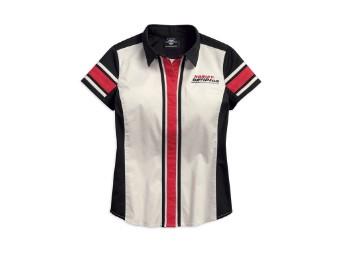 Hemd, Kurzarm, Colorblock, Harley-Davidson, Weiß