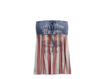 Top, Stars & Stripes Americana, Harley-Davidson, Blau/Rot/Grau