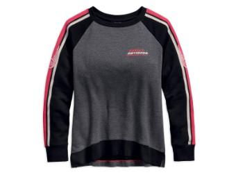 Pullover, Sleeve Stripe, Harley-Davidson, Grau/Schwarz/Weiß/rot