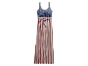 Kleid, Stars & Stripes Americana, Harley-Davidson, Rot/Grau/Blau