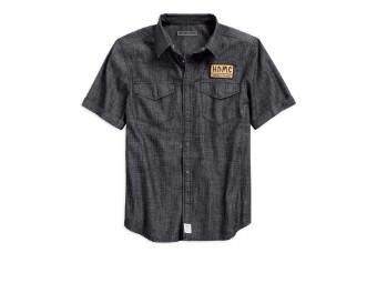 Hemd, Denim, Harley-Davidson, Schwarz