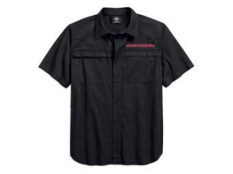 Hemd, Kurzarm, Big Back Graphic, Harley-Davidson, Schwarz