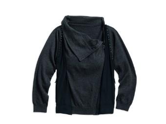 Zip Sweater, Asymmetric, Harley-Davidson, Grau