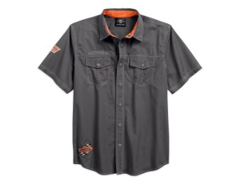 Hemd, Screamin' Eagle, Harley-Davidson, Grau/Orange