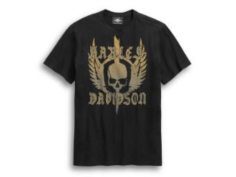 T-Shirt, Skull Wing, Harley-Davidson, Schwarz