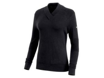 Pullover, Wool Blend V-Neck Long Sleeve, Harley-Davidson, Schwarz
